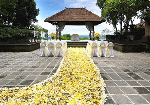 巴厘岛婚礼布场